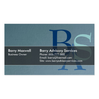 Professional Elegant Modern Blue Simple Double-Sided Standard Business Cards (Pack Of 100)