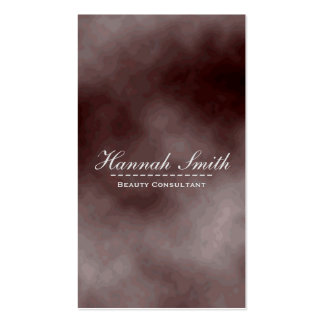 Professional Elegant Modern Brown Cloudy Brushed Business Card