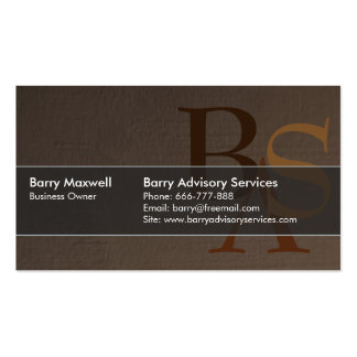 Professional Elegant Modern Brown Simple Double-Sided Standard Business Cards (Pack Of 100)