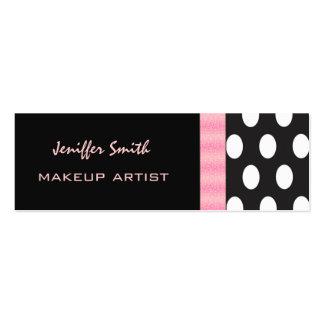 Professional elegant modern chic polka dots mini business card