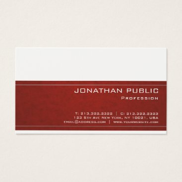 Professional Elegant Modern Classy Design Trendy Business Card