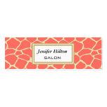 Professional elegant modern classy giraffe business card templates