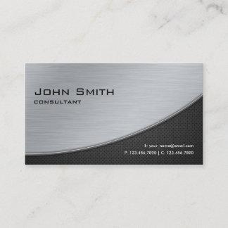 Professional Elegant Modern Computer Repair Silver Business Card
