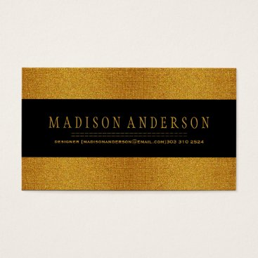 Professional Business Professional Elegant Modern gold badge Business Card