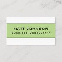 Professional Elegant Modern Green Business Card