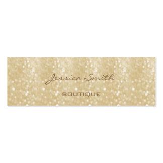 Professional elegant modern luxury glitter bokeh Double-Sided mini business cards (Pack of 20)