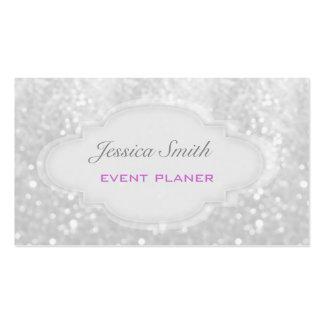 Professional elegant modern luxury glitter bokeh business card