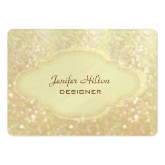 Professional elegant modern luxury glitter bokeh large business card