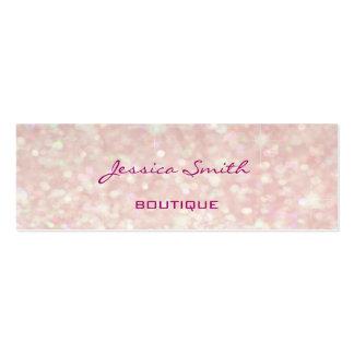 Professional elegant modern luxury glitter bokeh mini business card