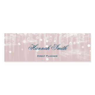 Professional elegant modern luxury glitter Double-Sided mini business cards (Pack of 20)