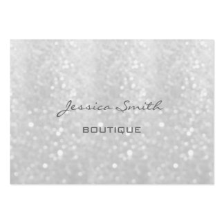 Professional elegant modern luxury glittery large business card