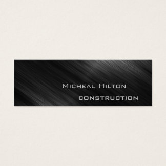 Professional elegant modern luxury shiny metal mini business card
