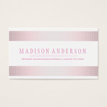 Professional Business Professional Elegant Modern pink badge Business Card