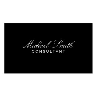 Professional Elegant Modern Plain Black Simple Double-Sided Standard Business Cards (Pack Of 100)