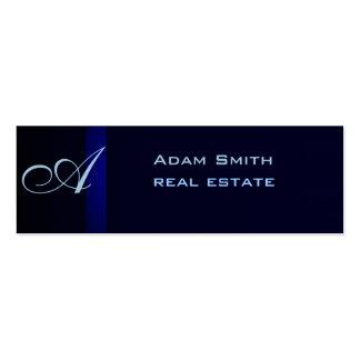 Professional elegant modern plain monogram mini business card