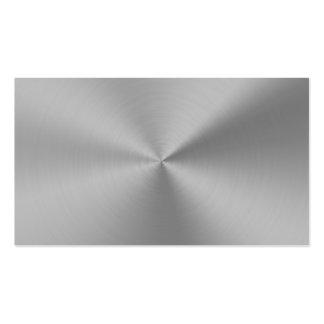 Professional Elegant Modern Plain Silver Metal Business Card