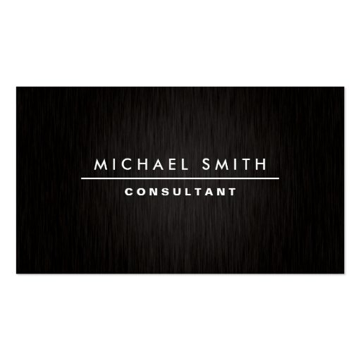 Professional Elegant Modern Plain Simple Black Business Card Templates