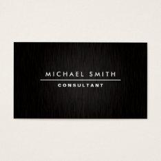 Professional Elegant Modern Plain Simple Black Business Card at Zazzle