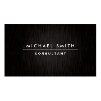 Professional Elegant Modern Plain Simple Black Double-Sided Standard Business Cards (Pack Of 100)