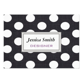 Professional elegant modern polka dots large business card