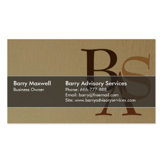 Professional Elegant Modern Sand Brown Simple Business Card