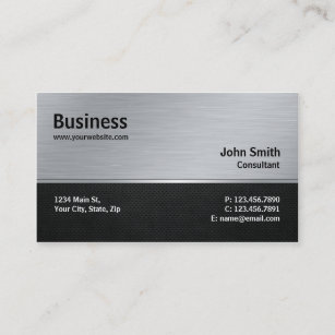 Silver Business Cards Zazzle