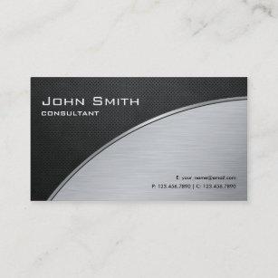 Professional Elegant Modern Silver Computer Repair Business Card