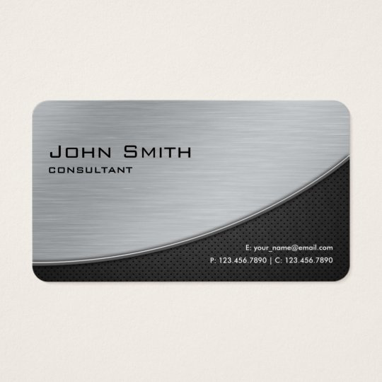 Professional Elegant Modern Silver Rounded Corners