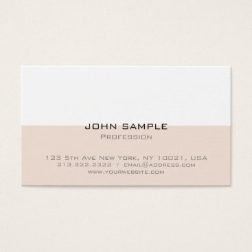 Beach Themed Professional Elegant Modern Simple Beige White Business Card