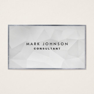 Professional Elegant Modern White Polygon Cards