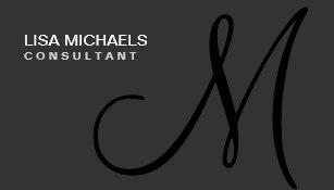 Professional Elegant Monogram Makeup Artist Black Business Card