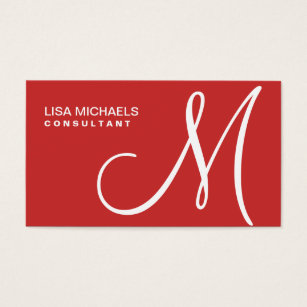 Red business cards templates zazzle professional elegant monogram makeup artist red business card fbccfo Choice Image