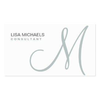 Professional Elegant Monogram Makeup Artist White Double-Sided Standard Business Cards (Pack Of 100)