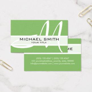 Professional Elegant Monogram Modern Dollar Bill Business Card