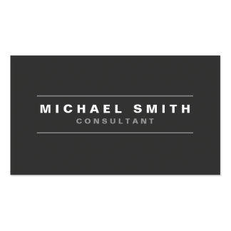 Professional Elegant Plain Black Modern Simple Double-Sided Standard Business Cards (Pack Of 100)