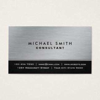 Professional Elegant Plain Black Silver Modern Business Card