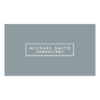 Professional Elegant Plain Interior Decorator gray Double-Sided Standard Business Cards (Pack Of 100)