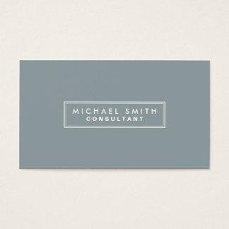 Professional Elegant Plain Interior Decorator gray Business Card