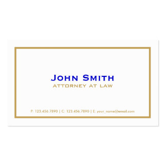 Professional Elegant Plain Simple Attorney White Business Card Template