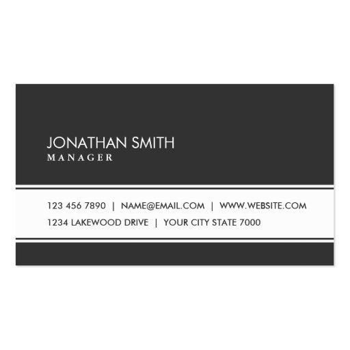 Professional Elegant Plain Simple Black and White Business Card