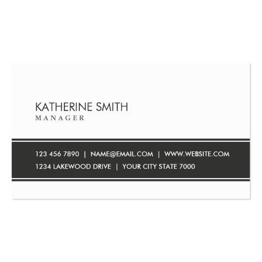 Professional Elegant Plain Simple Black and White Business Card Templates