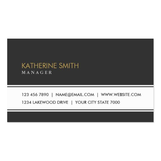 Professional Elegant Plain Simple Black and White Business Card Template
