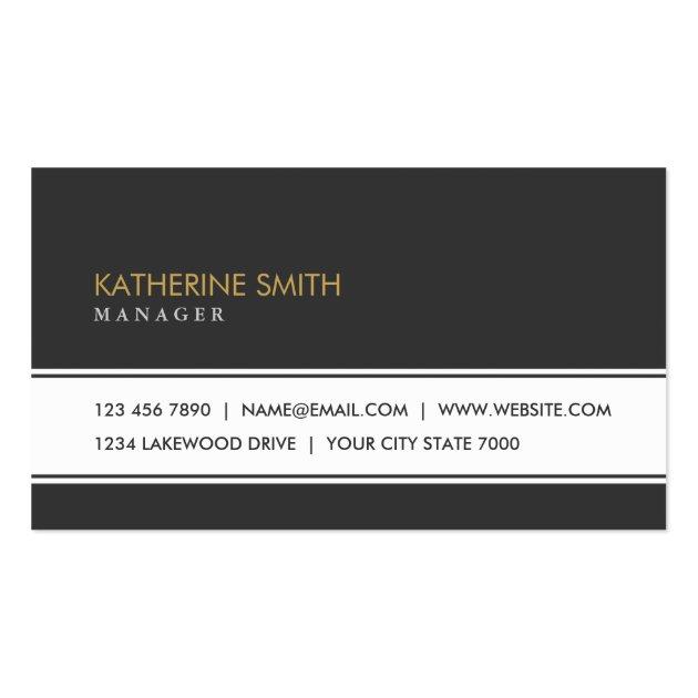 Professional Elegant Plain Simple Black And White Business