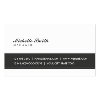 Professional Elegant Plain Simple Black and White Double-Sided Standard Business Cards (Pack Of 100)