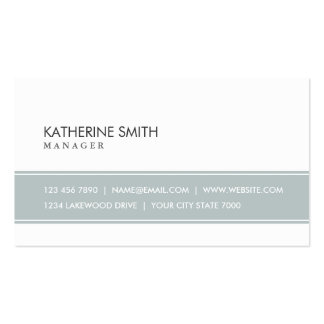 Professional Elegant Plain Simple Gray and White Double-Sided Standard Business Cards (Pack Of 100)