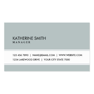 Professional Elegant Plain Simple Green Gray Business Card