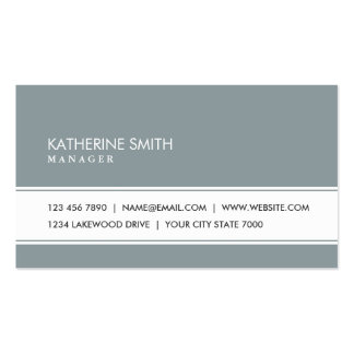 Professional Elegant Plain Simple Green Gray Double-Sided Standard Business Cards (Pack Of 100)