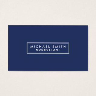 Professional Elegant Plain Simple Modern Blue Business Card at Zazzle