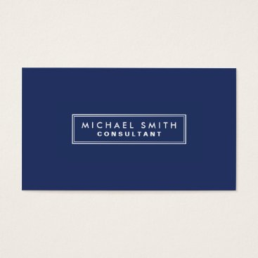 Lamborati Professional Elegant Plain Simple Modern Blue Business Card