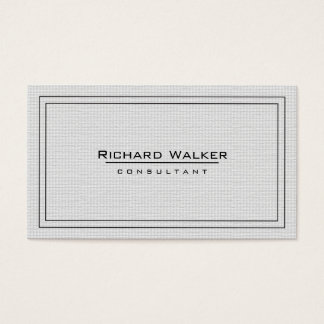 Professional Elegant Plain White Square Boarder Business Card